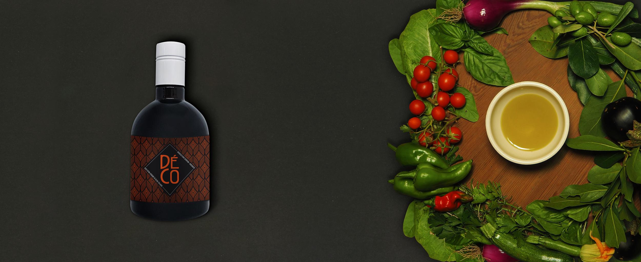 Mockup bottiglia di olio Déco | Déco bio